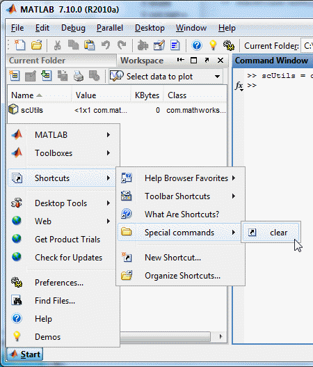 Custom category in Matlab R2010a