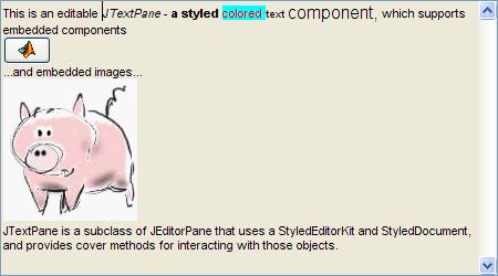 Rich editbox contents: images, controls & font styles
