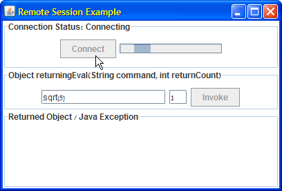 Connecting Java to Matlab using RMI