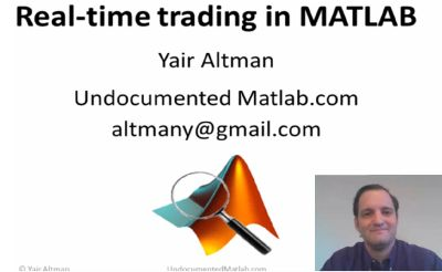 Click to view the Realtime Trading in Matlab presentation webinar video